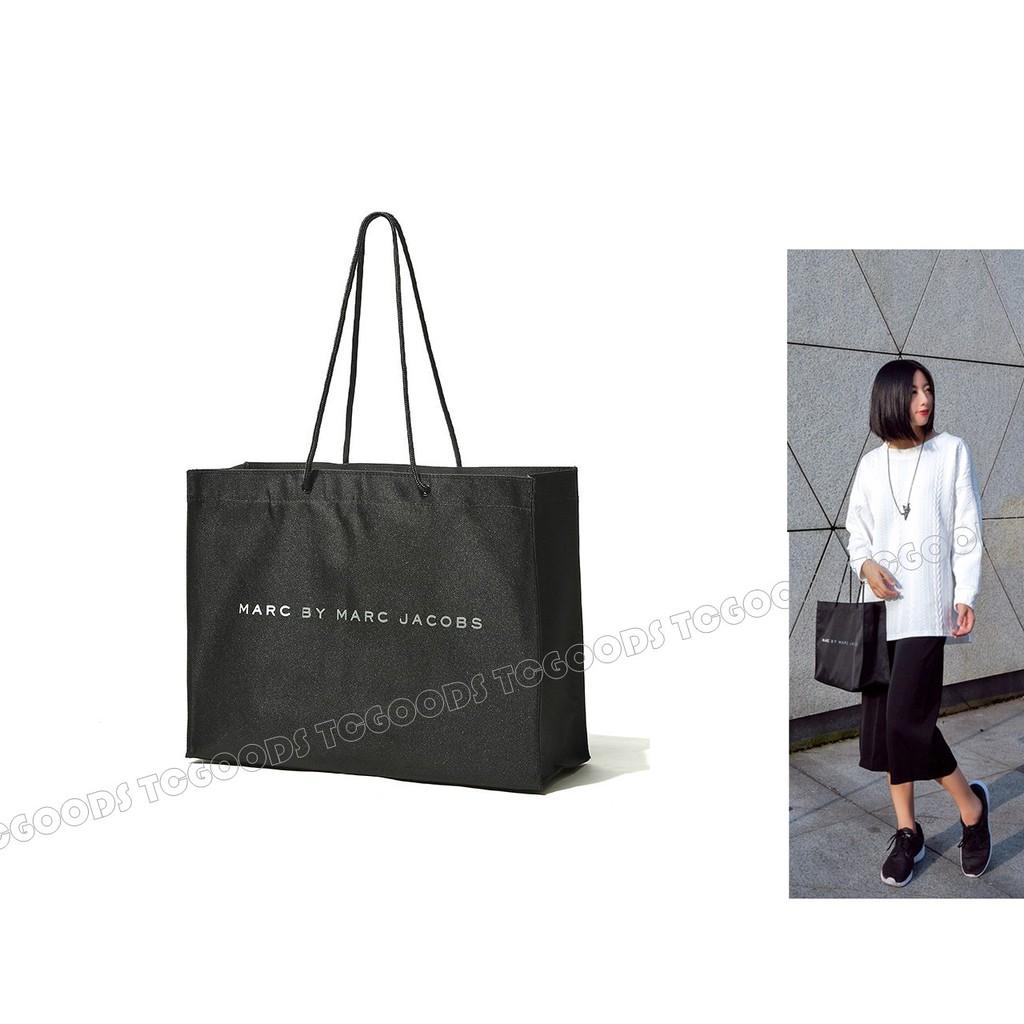 ~台中好物~日雜附錄Marc Jacobs MJ 黑色手提包環保 袋托特包A4 包 包單肩