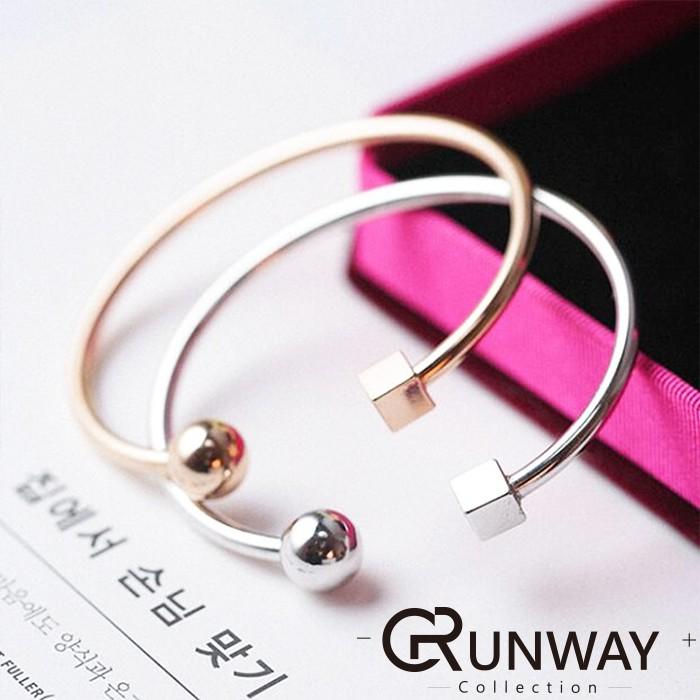 方型圓形幾何開口環形手環手鐲鍍金 簡約 風格氣質款 手環