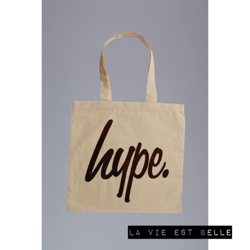 ( 半價 中)✈️英國Hype Tote Bag logo 帆布托特包 袋