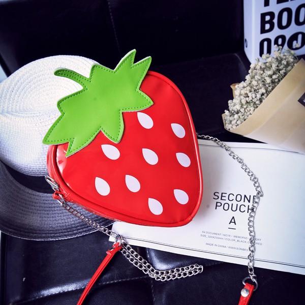 日韓 水果卡通可愛透明草莓西瓜檸檬包單肩斜挎包小包包女包