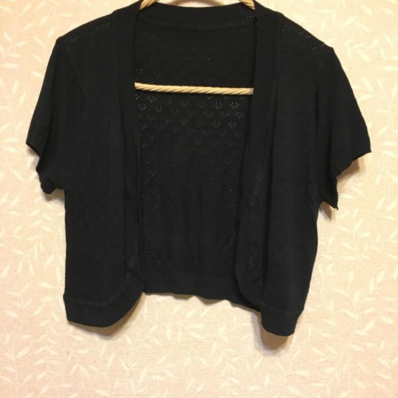 黑色百搭簡約純色針織小外套
