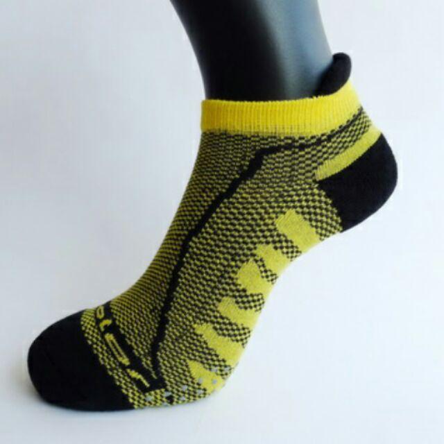 竹炭三跟透氣型氣墊 襪男女款腳底前端止滑
