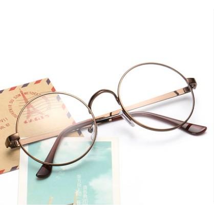 圓形眼鏡框男女文藝復古平光鏡圓框近視眼睛框防輻射眼鏡架 潮