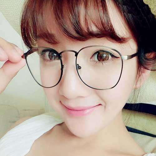 日系風金屬圓形情侶男女眼鏡框加贈 三角眼鏡盒拭鏡布