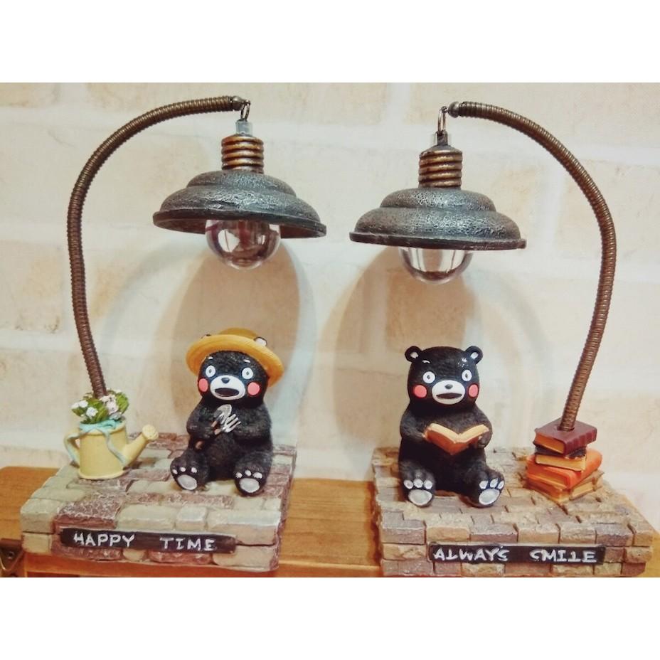 BeBe House 熊本熊LED 小夜燈看書燈可愛小燈公仔玩具人偶 小擺飾2 款