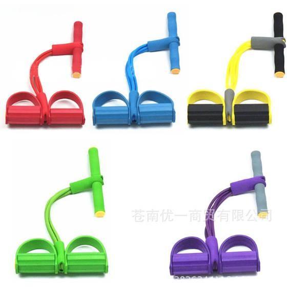 健身拉力器4 管型健腹腳踏拉力器