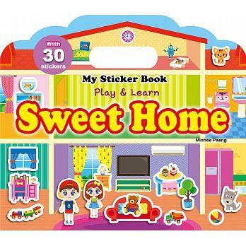 人類My Sticker Book :Sweet Home 手提貼紙書英文版:甜蜜的家