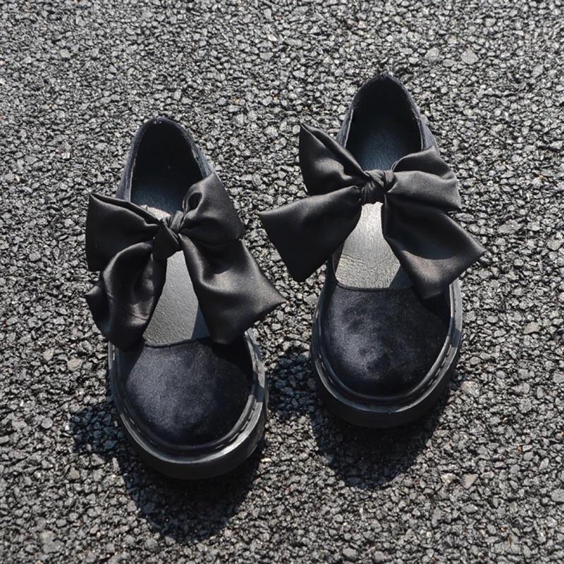 實拍有40 碼❤️2017 日系軟妹洛麗塔lolita 牛津底休閒娃娃鞋圓頭學生蝴蝶結女單