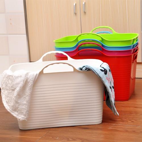 加厚特大衣服髒衣籃小號塑膠洗衣籃玩具收納筐髒衣服收納籃洗澡桶