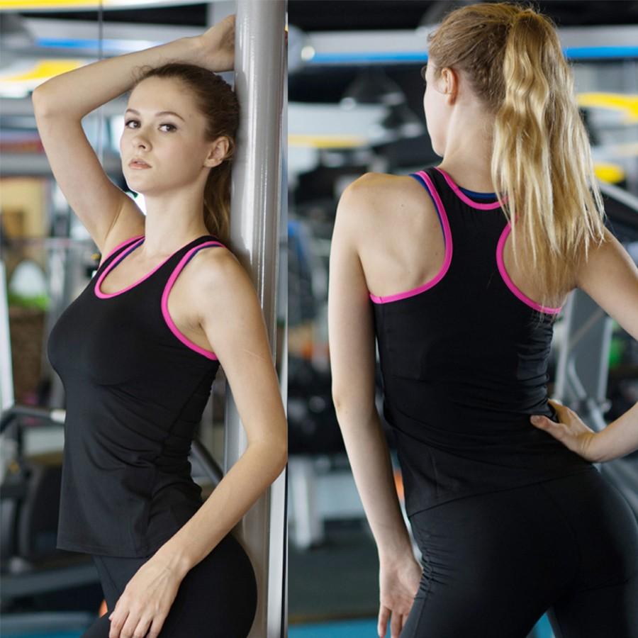女士 背心彈力緊身訓練瑜伽跑步健身衣排汗速乾2002