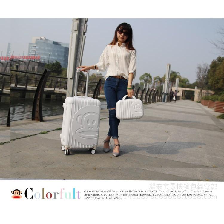 韓國大嘴猴子母箱女生 行李箱手提化妝箱