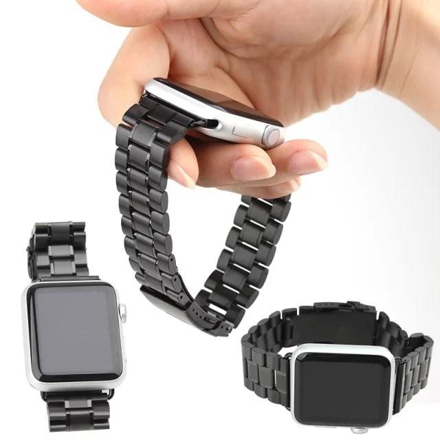 【米米♥潮品】Apple Watch 表带蘋果表帶金屬不銹鋼表帶伍銖實心錶帶錶環含連接器錶