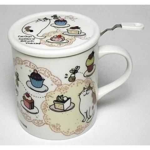 肥熊熊 製吉澤深雪水杯茶杯咖啡杯馬克杯甜點貓ccs01L