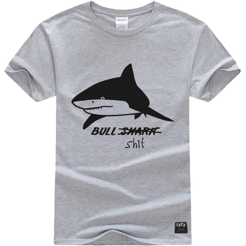 ~瘋 ~~ZB4837 ~鯊魚Shark 灰色短袖T 恤