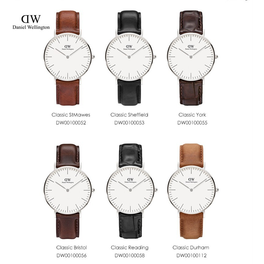DanielWellington 手錶女丹尼爾惠靈頓皮帶石英錶正品DW 女士手錶情侶錶 錶