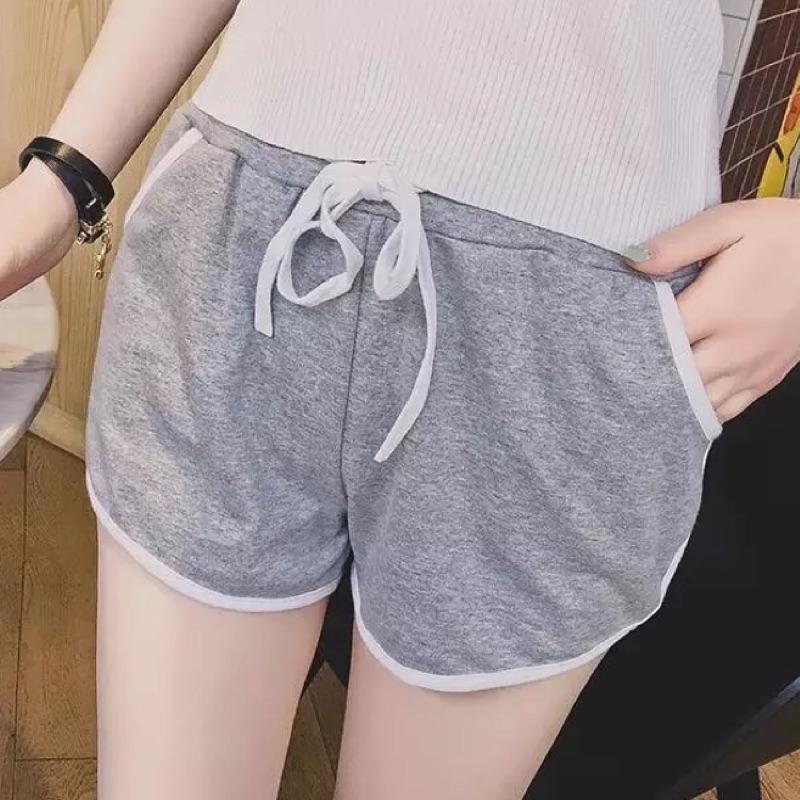 短褲 短褲女生短褲跑步健身短褲黑色灰色睡褲