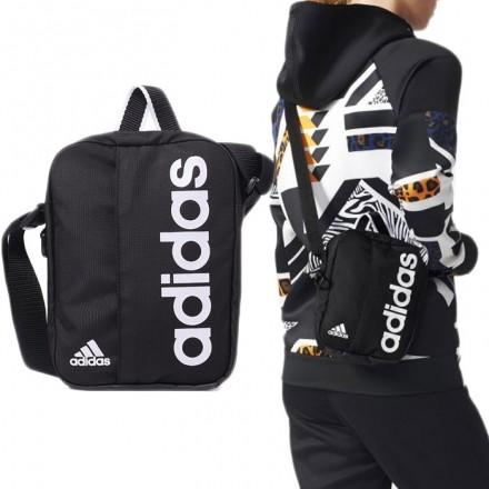 愛迪達ADIDAS Originals 三葉草包防水包輕便肩背側包斜背包側掛包附背帶黑AJ