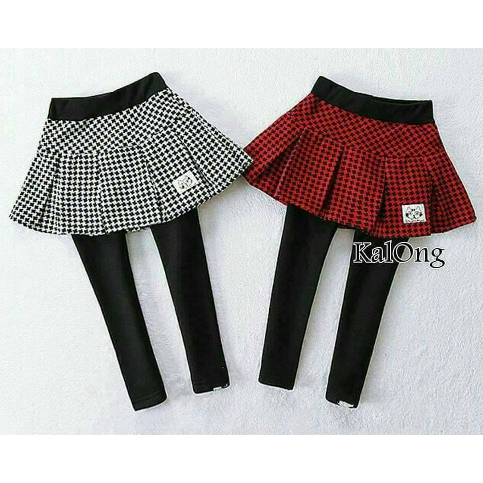 千鳥格貓咪裙褲(A4 B105
