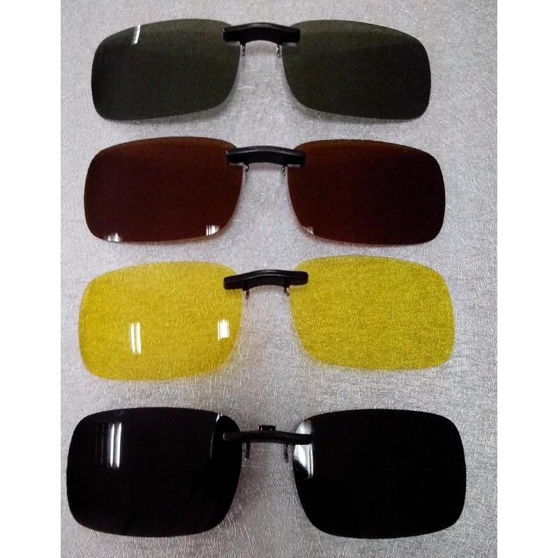 2017 抗UV400 偏光眼鏡夜視鏡偏光鏡夾片開車釣魚可夾近視眼鏡
