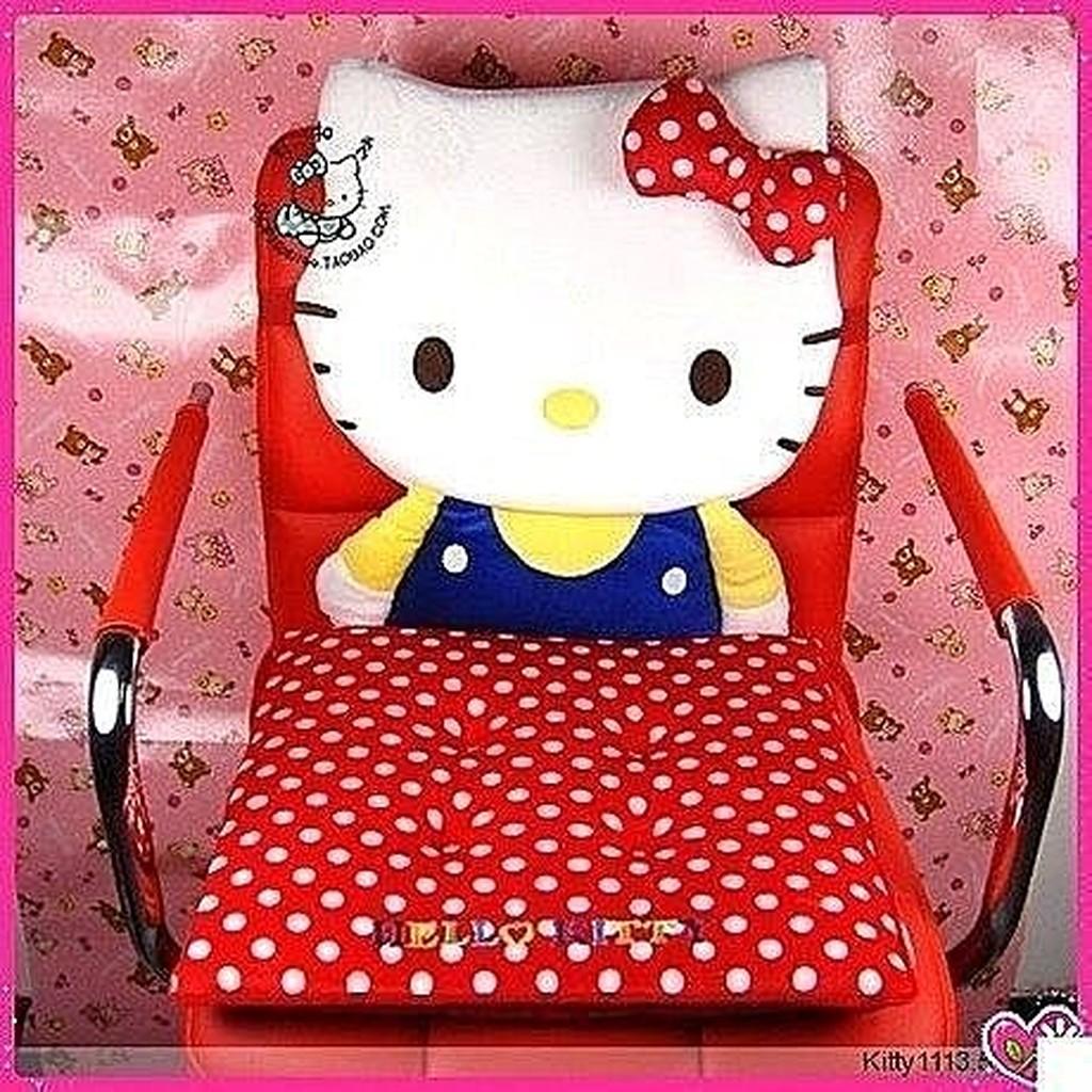 Hello kitty 毛絨卡通凱蒂貓辦公室坐墊椅墊靠座墊