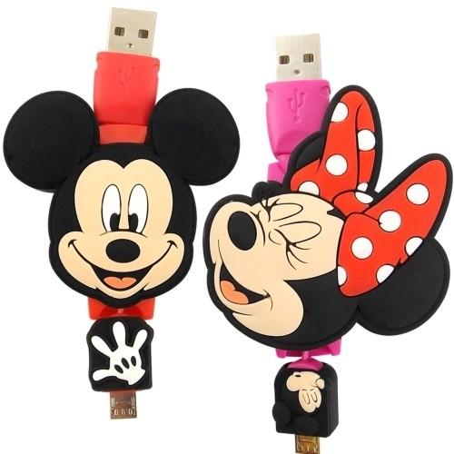 ~Disney ~Micro USB 伸縮傳輸線米奇米妮