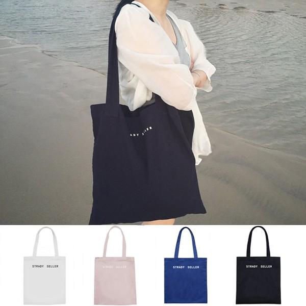 ♡ 字母簡約帆布包帆布袋單肩包肩背包斜背包 包書包手提包側背包exo 2 色 ♡