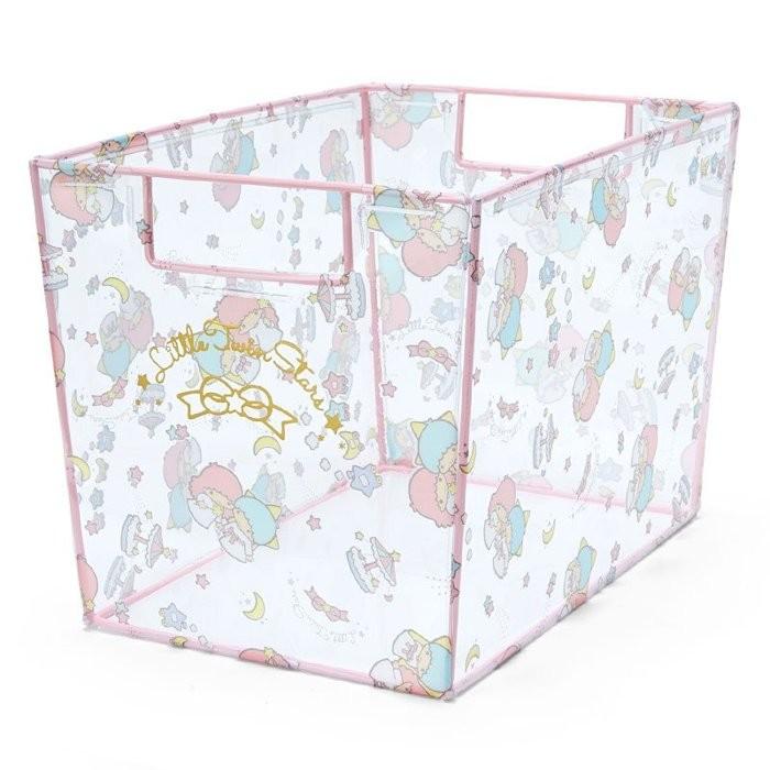 ~小橘子 屋~雙子星Kikilala 星星月亮蝴蝶結多圖透明收納盒透明小型收納箱置物盒置物