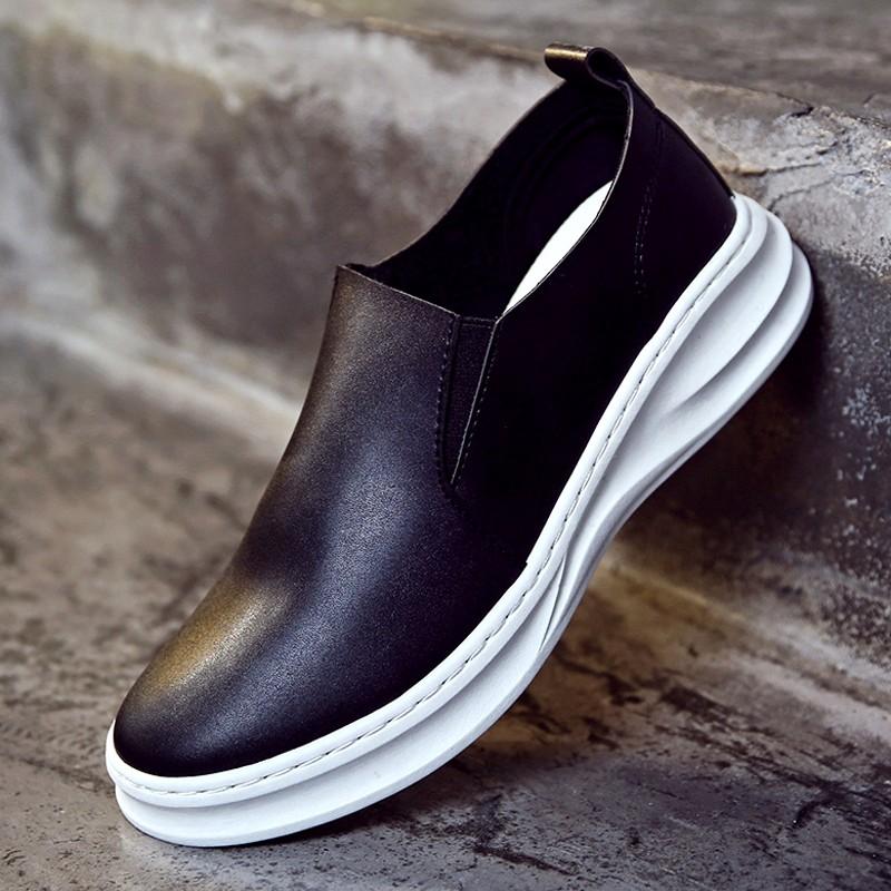 樂福鞋男鞋子內增高皮鞋男士 鞋厚底潮鞋松糕鞋英倫風男鞋拖鞋懶人鞋拖鞋涼鞋板鞋樂福鞋帆布鞋皮