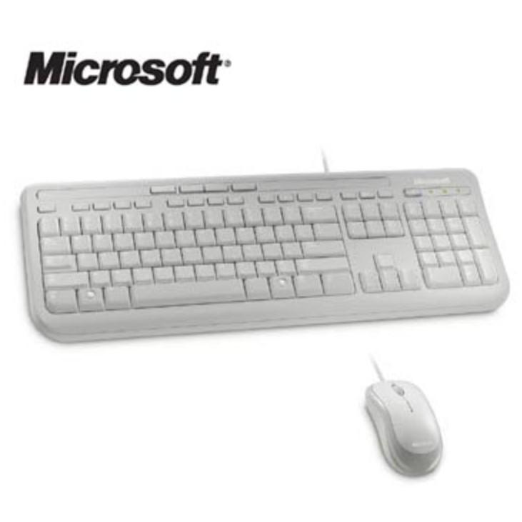Microsoft 微軟 滑鼠鍵盤組600 黑白兩色 貨有線中文鍵盤有線滑鼠