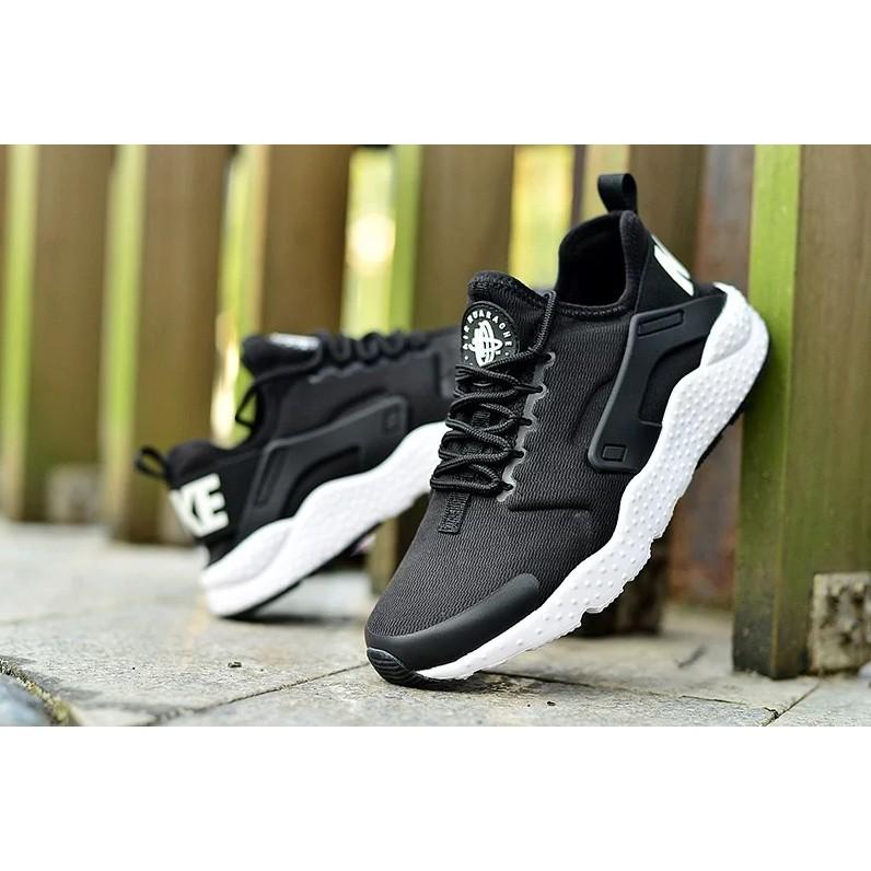 NIKE AIR HUARACHE 黑白武士黑武士 華萊士慢跑鞋情侶款跑步鞋休閒 鞋nik