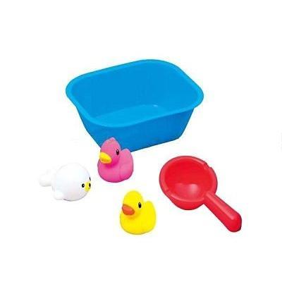 ~美國媽咪~樂雅Toy Royal 新快樂洗澡玩具遊戲組中7213 黃鴨子粉鴨子海獅小水瓢