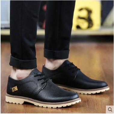 男士皮鞋商務休閒鞋英倫青年正裝小皮鞋潮流加絨棉男鞋子