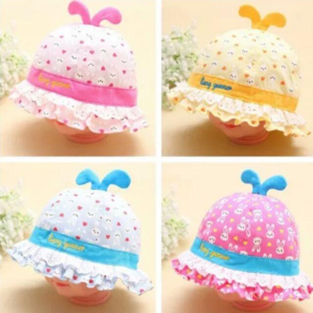 男女寶寶遮陽帽嬰幼兒太陽帽兒童公主帽嬰兒純棉沙灘帽漁夫帽