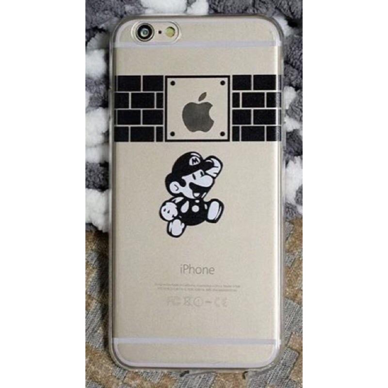 瑪莉歐可愛卡通手機殼TPU 軟殼蘋果iphone5 5s 6 6s 4 7 5 5 plu