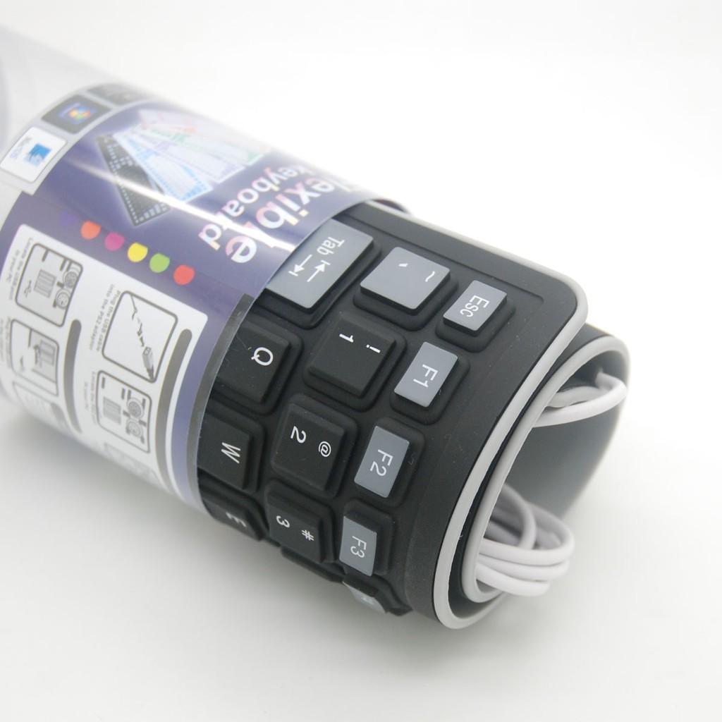 潮電街防水折疊軟鍵盤無聲鍵盤便攜靜音硅膠USB 有線鍵盤筆記本軟鍵盤