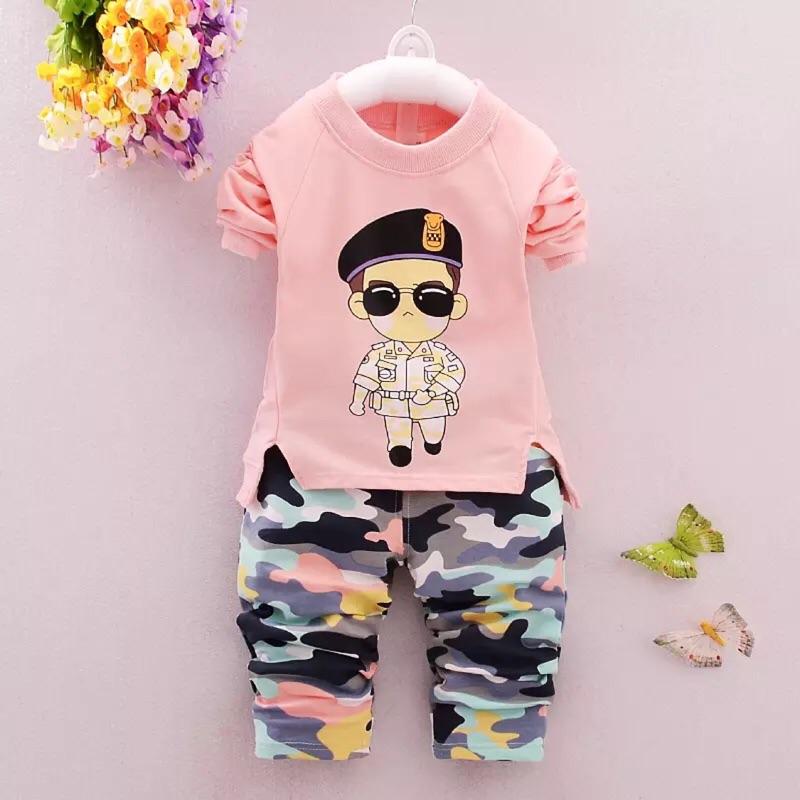 女寶寶秋裝衛衣套裝1 2 3 4 歲男童秋天純棉長袖外套嬰幼兒童衣服