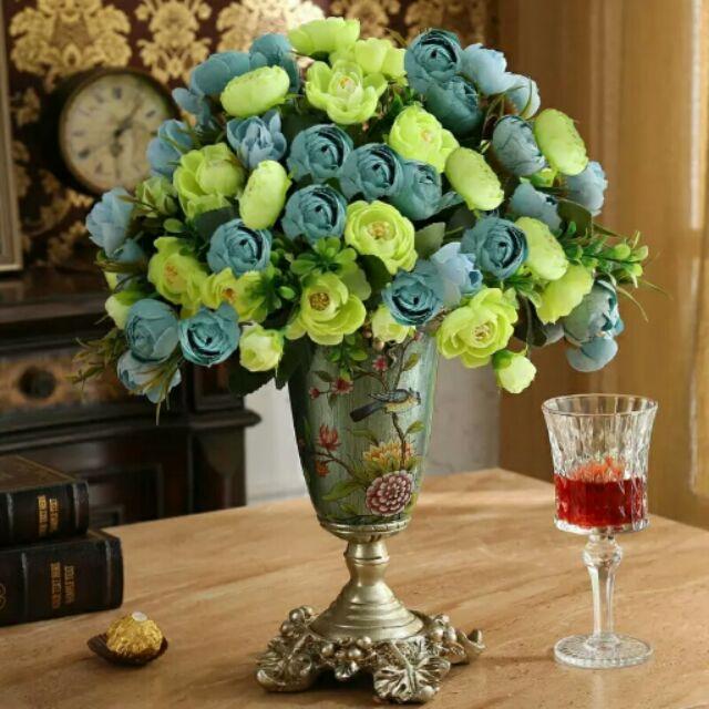 ♡ ♡復古華麗宮廷風格插花瓶插花器極致奢華大氣皇宮貴族氣派描金邊彩繪雕花擺件歐式客廳酒櫃餐