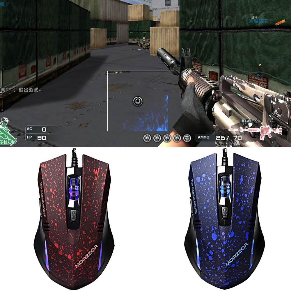 USB 有線6 鍵LED 多變的色彩遊戲遊戲鼠標
