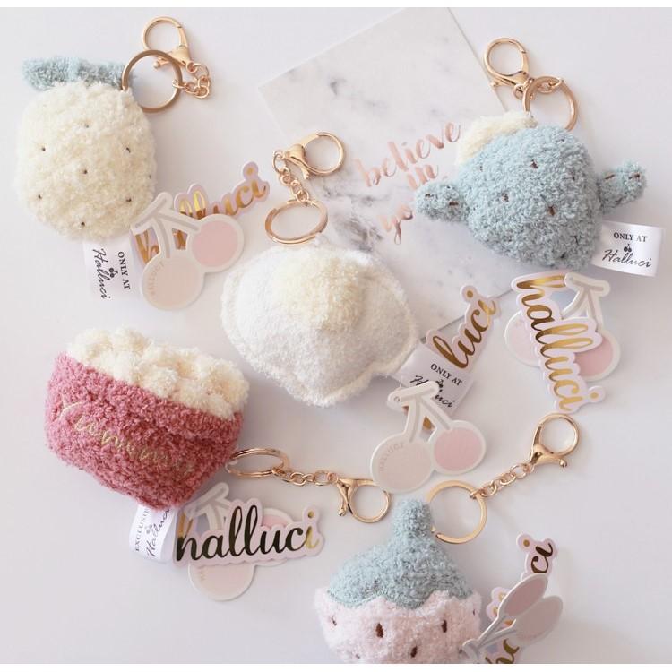 小兔雜貨 HALLUCI 正品超可愛絨毛鑰匙圈系列