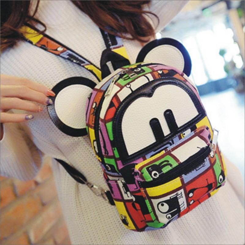 靚舖子~塗鴉印花大耳朵後背包~ 背包書包旅行包休閒包包包