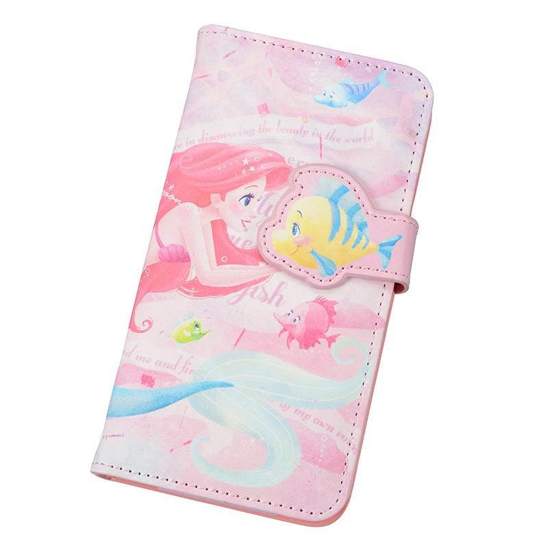 6 18 收單 帶回迪士尼夢幻海洋唯美浪漫小美人魚小比目魚粉彩皮革 手機套、手機保護套、保