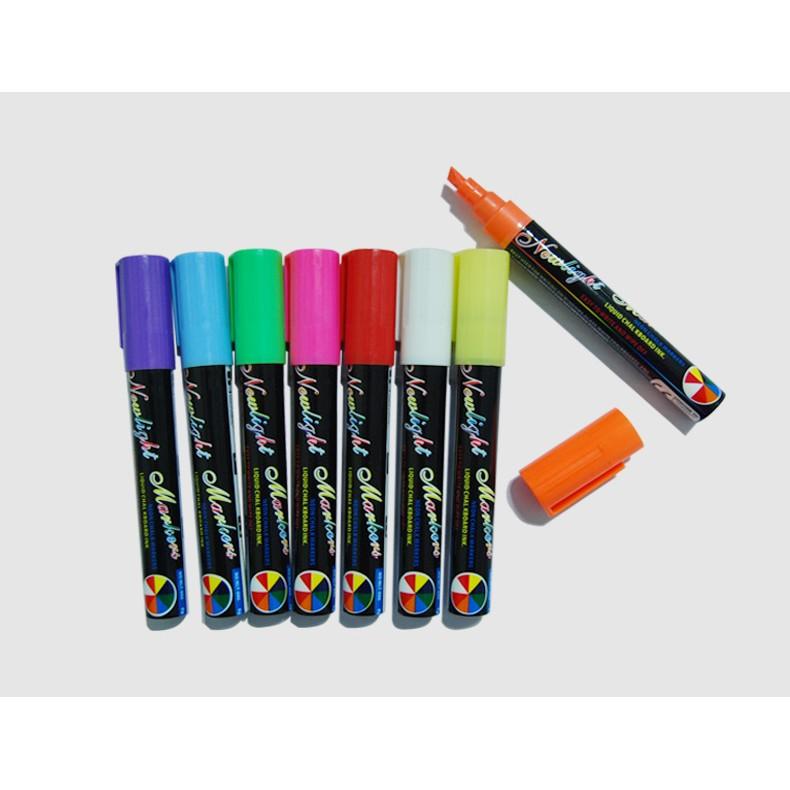 高亮度吸睛~8 支裝~手寫螢光板 筆LED 手寫螢光筆螢光板 螢光筆6MM