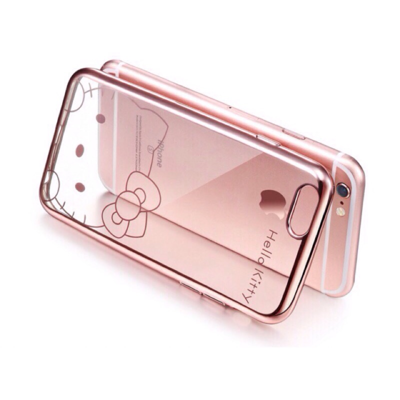 Iphone6 6s 電鍍邊框軟殼玫瑰金電鍍iphone6 透明電鍍邊框iphone6s
