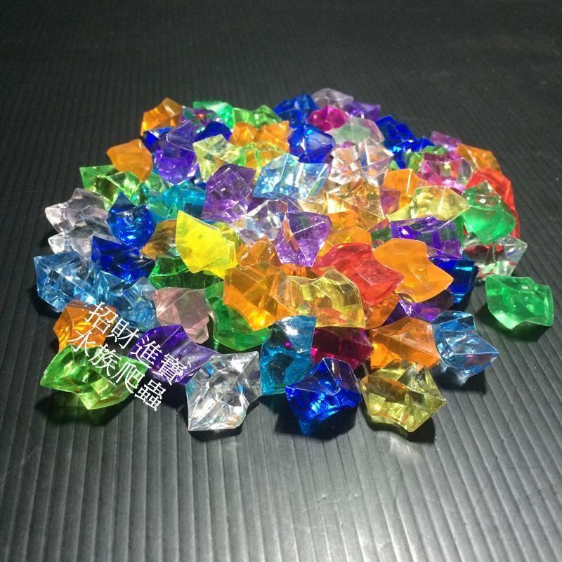 彩色鑽石壓克力彩鑽水晶石造景底床裝飾品擺飾造景石水晶沙石 盆栽底砂水族箱魚缸水草缸