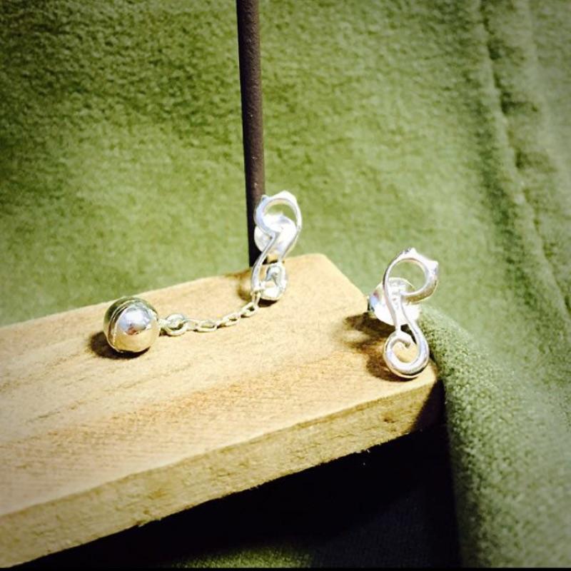 超Q 貓咪鈴鐺925 純銀耳環