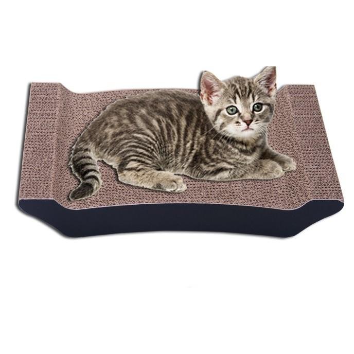 ~ ~~幼貓兩面 小型抓板~送貓薄荷高密度瓦楞紙貓抓板貓玩具貓咪玩具耐抓、磨爪