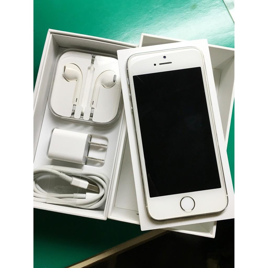 iPhone 5S 16G 銀9 成9 新無刮傷後包膜附 盒裝全