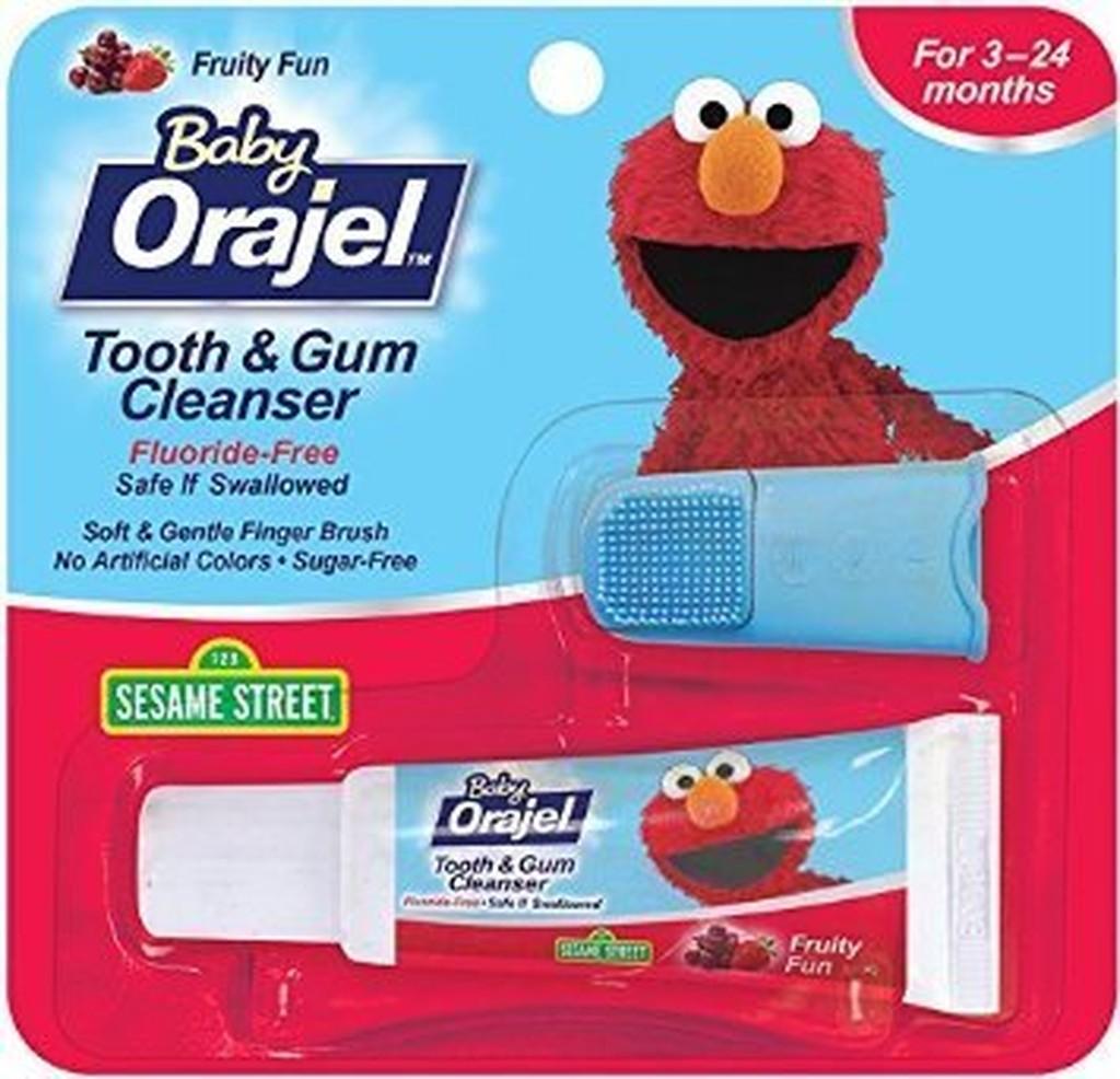 ~彤彤小舖~Orajel Baby 寶寶牙齒牙齦清潔組牙膏手指刷無氟無糖無人工色素19 8