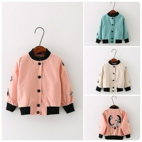 2016 春夏 男女寶寶章魚 外套上衣女童夾克拉鏈衫棒球衫