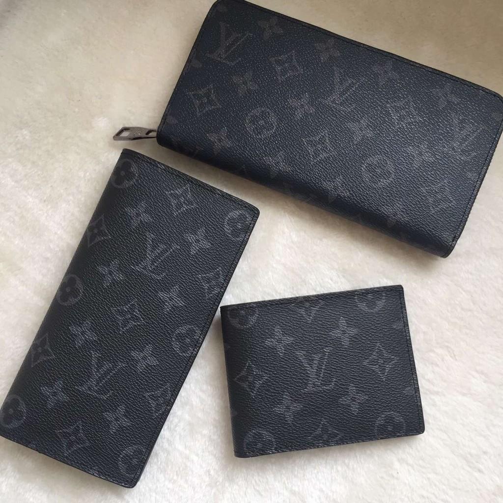 Louis Vuitton 路易威登lv 錢包男士 老花款長款折叠錢夾LV 拉鏈手拿包LV